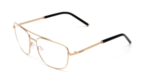 Optical frames in a matte metal finish, fashion glasses, gold glasses