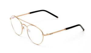 Round frames in a matte metal finish, round glasses, round designer glasses, gold glasses